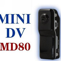 [FREE ONGKIR] Spy Cam Camera Mini DV Clip MD80 Kamera Mata-mata Hitam
