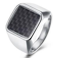 Cincin Titanium Cincin Tengkorak Silver Ring Carbon Perhiasan Wanita