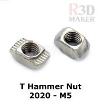 T Nut M5 Tee Nut T Hammer Nut 20-M5 Drop In Aluminium Profile 2020