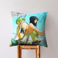 Cushion Bantal Sofa Anime One Piece Mugiwara Nakama Zoro x Robin 21