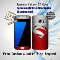 Garskin HP Samsung S7 Edge motif superman red - motif bisa request
