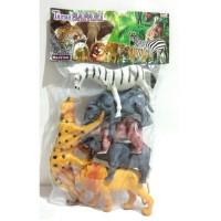 Mainan figure binatang hutan karet besar - Taman Safari TS-01