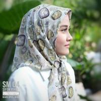 jilbab segiempat motif//hijab//polycotton//basic grey n green//SM04