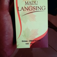 Paket langsing banget,madu langsing al mabruroh+ jati cina