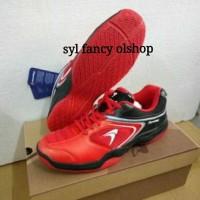 sepatu badminton flypower pawon 3 bulutangkis shoes original red black