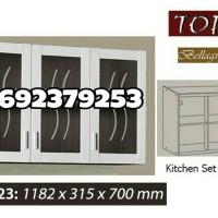 Kitchen Set / Lemari Gantung Dapur 3 Pintu Kaca Topix