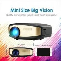 Mini Proyektor 1200 Lumens Infocus Projector Cheerlux C6 Wifi Infokus