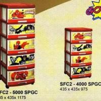 5 Laci plastik Napolly spiderman SFC2-5000-SPGC via GOJEK/GRAB