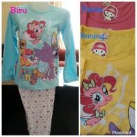 Jual Piyama Anak Little Pony/Baju Tidur Anak/Setelan Little Pony 8-10thn Murah