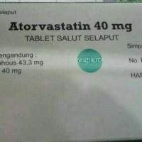 atorvastatin 40 mg/ lipitor 40mg Generik/ obat kolesterol/ isi 30.