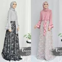 Gamis pesta / Baju kondangan / Baju pink / Dress hitam : Cosa Maxi
