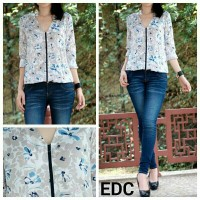 Tom Tailor Hibiscus Blue Blouse
