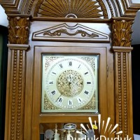 Lemari Jam Junghans luxury Grandfather Clock sudut jati teak german