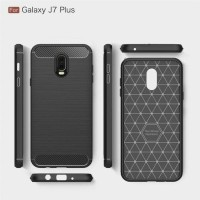 Samsung Galaxy J7 Plus J7+ Softcase Carbon Silikon Case Casing Cover