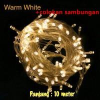 Jual WARM WHITE Lampu natal led dekorasi lampu tumblr dgn colokan sambungan Murah