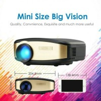 Mini Portable Projector Cheerlux C6 WiFi Edition - Anycast - TV Tuner