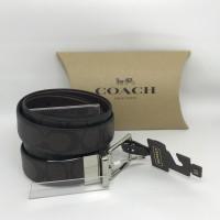 Coach Men Reversible Belt Signature Mahogany