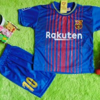 Setelan Baju Bola Anak Bayi 2-3th FCB Bordir Messi