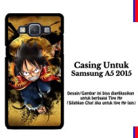 Samsung A5 2015 one piece luffy background wallpaper Custom Hard Case
