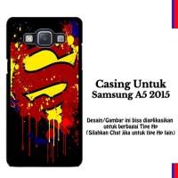 Samsung A5 2015 Paint Splash Superman Logo Custom Hard Case