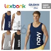 Kaos Polos Tanktop Singlet GILDAN Premium Cotton XXL Big Size