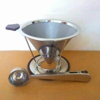 Jual Stainless Steel V60 Premium | Coffee Dripper 2-4 cups Murah