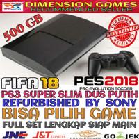 Jual PS3 PS 3 SONY PLAYSTATION 3 SUPER SLIM 500 GB OFW REFURBISH + REQ GAME Murah