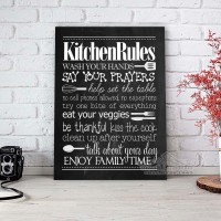 Poster Vintage | Retro | Kitchen Rules