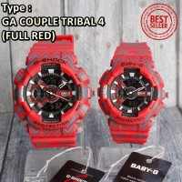 Jam Tangan Couple CASIO G Shock & Baby G Jeans Denim digital TERMURAH