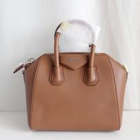 Givenchy Mini Antigona Dark Brown Grained