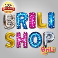 Balon Huruf | Balon Foil Huruf | Gold, Silver, Pink, Biru
