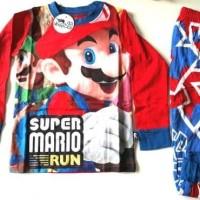 Jual Promo Piama Piyama Baju Tidur Anak Laki-laki Super Mario Bros Murah
