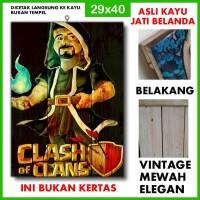 Poster Clash of Clans 5 COC05 Kayu Vintage Asli Dinding Rumah/kafe