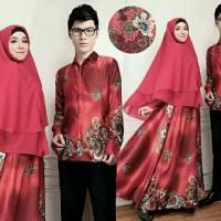 Couple Safira Syari Busui Baju Pasangan Batik Modern Kondangan A063