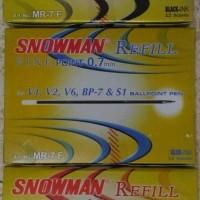 refill pulpen snowman 0.7mm isi ulang ballpoint pen refil bolpen murah