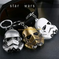 Stormtrooper Helmet White Key Chain Star Wars Gantungan kunci keychain