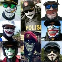 baff topeng vendeta,joker,anonimous,skull,face shield,balaclava