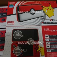 NINTENDO NEW 2DS XL CONSOLE POKEBALL LIMITED EDITION BONUS GAMES