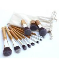 Jual Kuas brush 11pcs Natural Bamboo Makeup Brushes Foundation Blending Murah