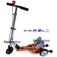 Jual Jual Vita Skuter Anak Dua Pedal Besi / Scooter Dual Pedal orange murah Murah