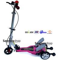 Jual Jual Vita Skuter Anak Dua Pedal Besi / Scooter Dual Pedal pink murah Murah