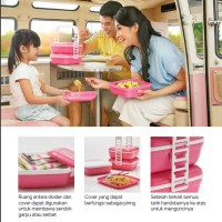 Promo Tupperware Picnic Set Trio Pink  Rantang Susun  XW-06S Harga Pas