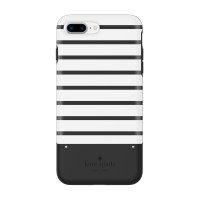 Kate Spade New York iPhone 7 Plus Credit Card Case - Stripe Black