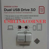 SALE Flashdisk Sandisk Ultra Usb 3 0 32gb Dual Drive Otg White LPI54