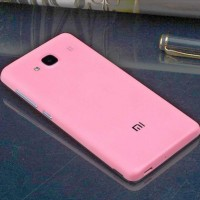 Xiaomi Redmi2 Redmi 2 Prime Warna Pink Matte baterai Back Cover Ganti