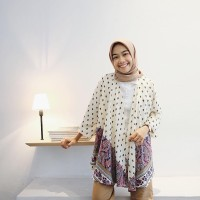 Jual Kimono outer Turkish White Murah