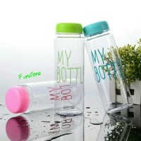 Jual Botol Minum My Bottle 500ml - Transparant + Free Sarung + Bubble Wrap Murah