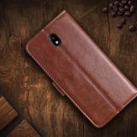 Casing Leather Kulit FLIP COVER WALLET Samsung J3 J7 PRO 2017 Case HP