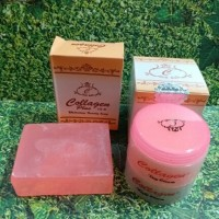 PAKET CREAM COLLAGEN HOLOGRAM SUPER + SABUN COLLAGEN