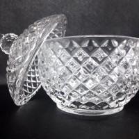 BO031 Toples Kaca Permen Kue Glass Candy Crystal Jars Cookies Mini